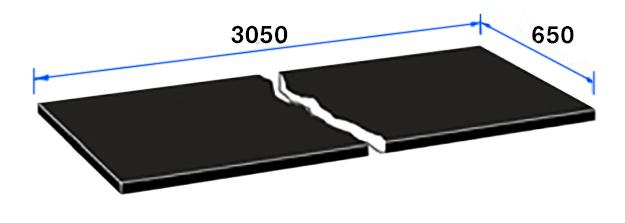 3050 x 600 x 12.5mm SGL Modular Blank