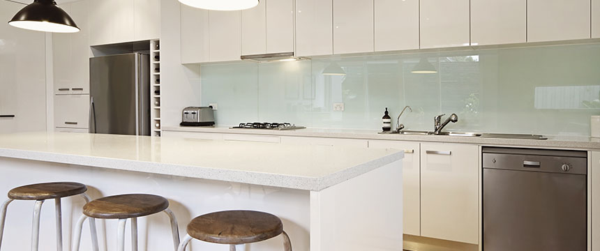 Quartz worktops by Sheridan